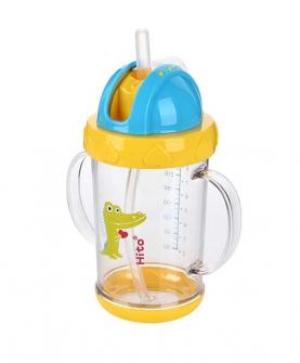 幼儿园宝宝防漏吸管杯