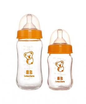 新生儿宽口径耐高温葫芦玻璃奶瓶