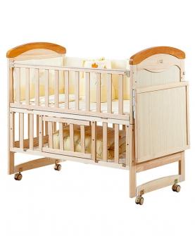 婴儿床实木白色童床