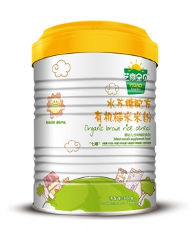 水苏糖有机糙米米粉-罐装