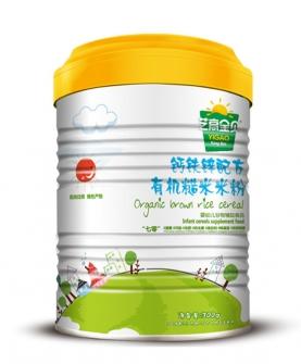 钙铁锌有机糙米米粉-罐装