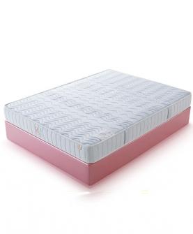 负氧离子海绵儿童七分区弹簧护脊床垫