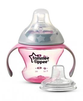 初级奶嘴杯婴儿鸭嘴杯宝宝吸管杯学饮杯