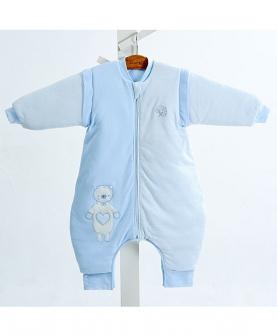 婴儿秋冬款针织夹棉分腿睡袋