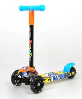 儿童滑板车三轮闪光