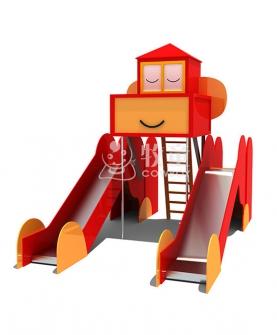 儿童乐园游乐设施设备嬉皮猴乐园滑梯