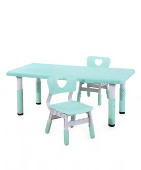 加长儿童桌椅套装塑料桌子椅子