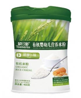胡萝卜味有机婴幼儿营养米粉桶装