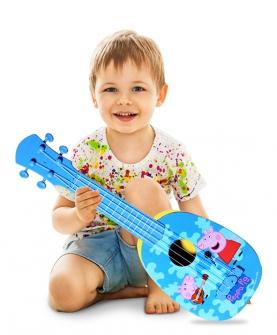 粉红小猪佩奇琪尤克里里儿童小吉他