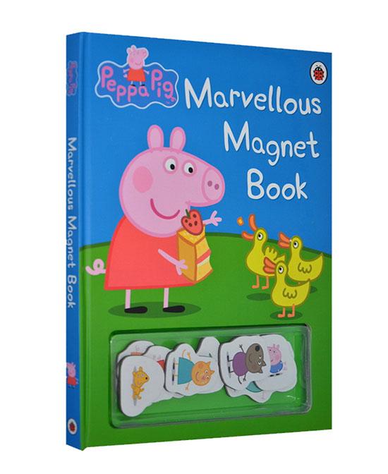 美乐童年早教产品小猪佩奇 奇妙的磁铁书代理,样品编号:76348