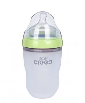 广口硅胶奶瓶250ml