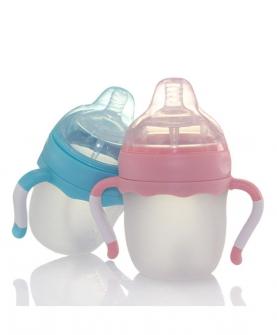 标口硅胶婴儿奶瓶