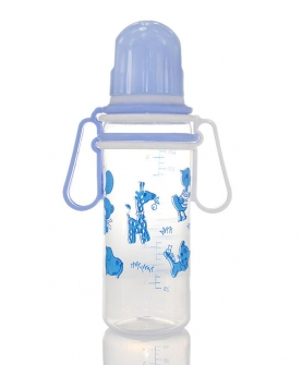 标口径婴儿带手柄奶瓶