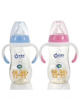 新生儿带柄宽口奶瓶