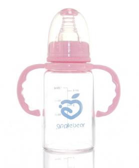 新生儿标口径喂药玻璃奶瓶