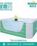 游乐宝亚克力幼儿游泳池2.2米单面玻璃池