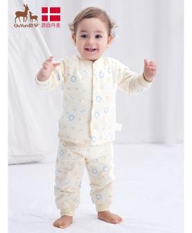 婴儿内衣夹棉秋衣秋裤