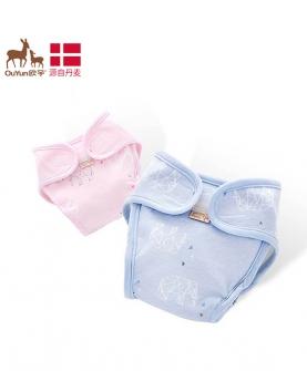 婴儿尿布裤纯棉防水透气