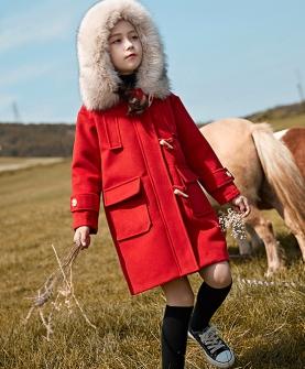 女童毛呢外套中长款呢子大衣2019新款