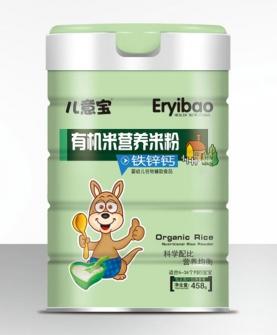 有机米营养米粉-铁锌钙罐装