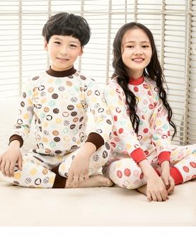 儿童秋衣套装全棉