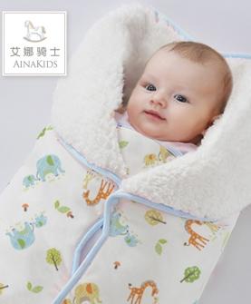 婴儿秋冬包被