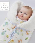 艾娜骑士婴儿秋冬包被