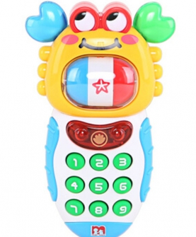 玛力玩具早教启智声光转转蟹手机玩具