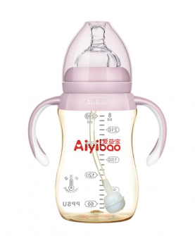 PPSU奶瓶240ml 粉色