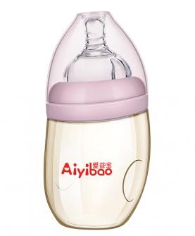 PPSU弯头奶瓶 粉色