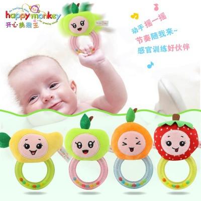 开心美猴王happy monkey益智玩具    水果胶圈毛绒摇铃     玩具设计加工