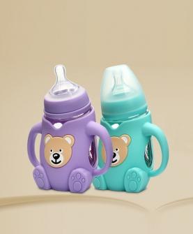 卡通熊型玻璃奶瓶240ML