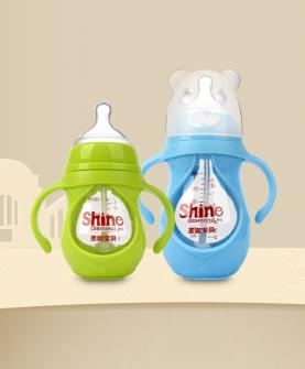 PP套葫芦形玻璃奶瓶150ML/240ML