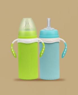 纯色布套玻璃奶瓶240ML