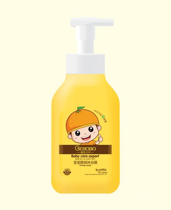橙色贝贝舒润沐浴液