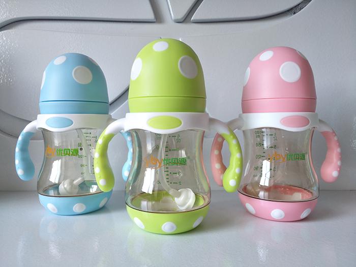优贝源奶瓶PPSU蘑菇头奶瓶180ml代理,样品编号:80630