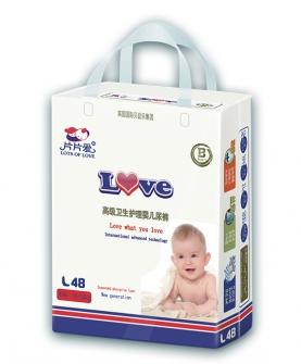高级卫生护理婴儿纸尿裤L48