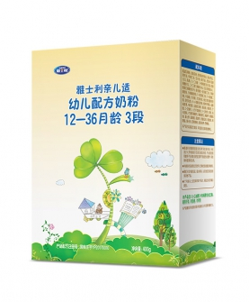 亲儿适幼儿宝宝奶粉三段400g盒