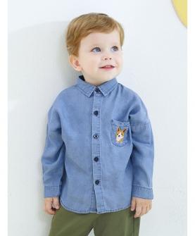 儿童长袖衬衫秋装