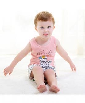 婴幼儿夏装宝宝无袖套装