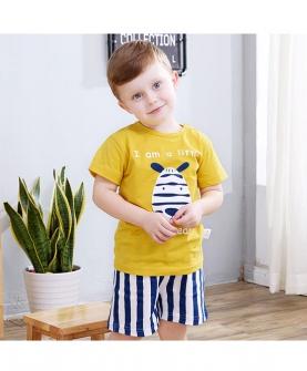 婴儿夏季短袖短裤套装