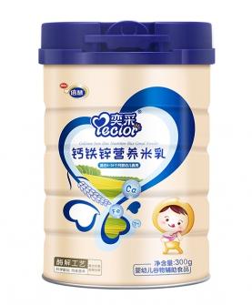钙铁锌营养米乳300g罐