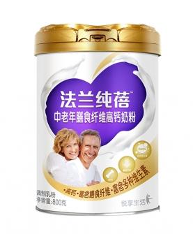 法兰纯蓓中老年膳食纤维高钙奶粉800g听