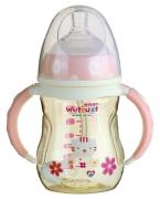 惟特思粉红宽口PPSU奶瓶双色系列(180ml)