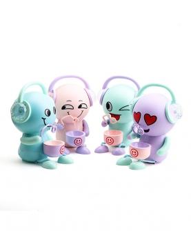 表情泡泡机音乐发光玩具