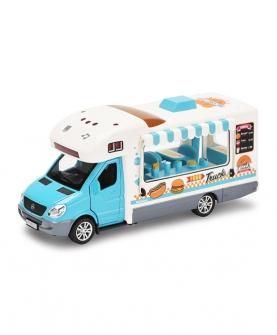 合金餐车模型