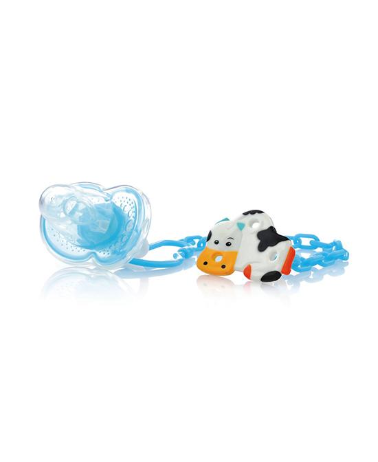 芭芘宝贝婴儿带链安抚奶嘴