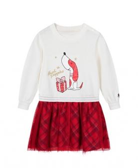 品牌童装女童连衣裙棉