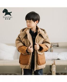 男童棉衣短款