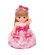 咪露粉红蕾丝公主裙套装